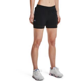 2-in-1-Shorts für Frauen Under Armour Iso-Chill Run