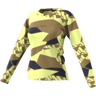Langarm-T-Shirt für Frauen adidas Terrex Primeblue Trail Graphic
