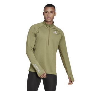 Sweatshirt mit Reißverschluss adidas Adizero Warm