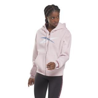 Damen-Kapuzenpulli mit Reißverschluss Reebok Training Essentials Vector