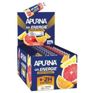 Packung mit 25 Gelen Apurna Energie longue distance agrumes - 35g