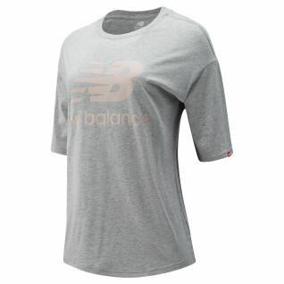 Frauen-T-Shirt New Balance essentials stacked logo